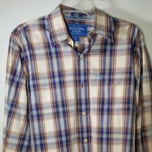 Abercrombie and Fitch long sleeve button up L